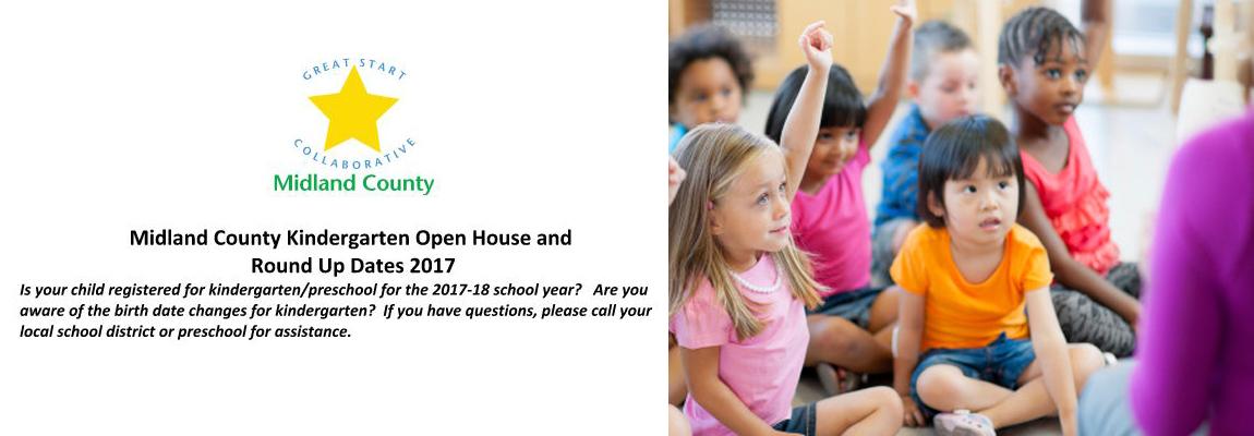 Preschool and Kindergarten Open House and Round Up Dates