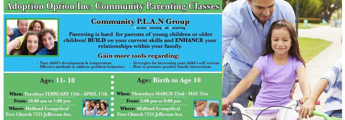 Adoption Option, Inc. Community Parenting Classes