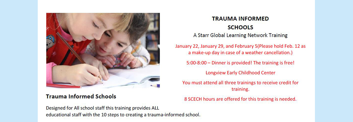 Trauma Informed Schools Training 2019