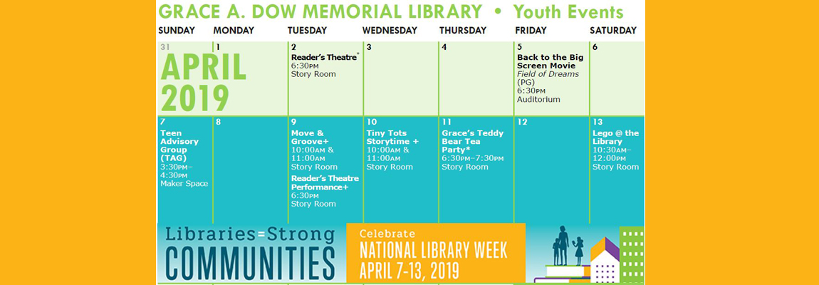Grace A. Dow Memorial Library Youth Events